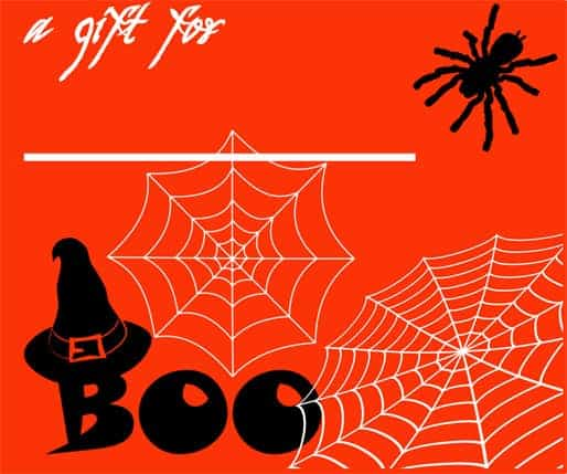 free halloween gift tags