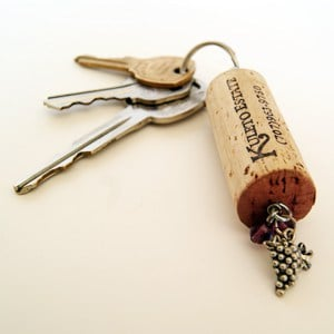 diy win cork key chain project
