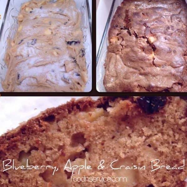Fresh blueberry apple and craisin bread recipe