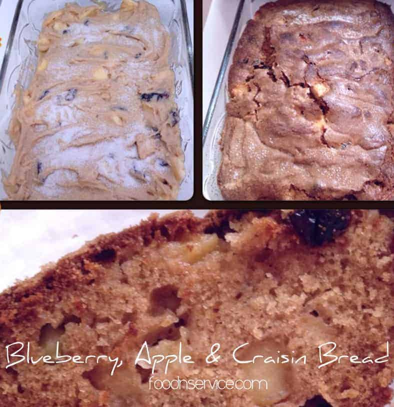Fresh blueberry apple and craisin bread recipe