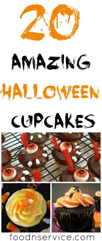 20 DIY Halloween cupcakes for kids