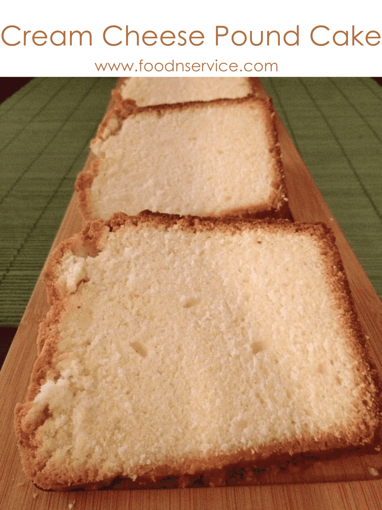 cream cheese pound cake recipe