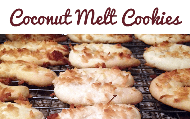 Coconut Melt Cookies Recipe! A fun version a of shortbread cookie recipe, but so much better!