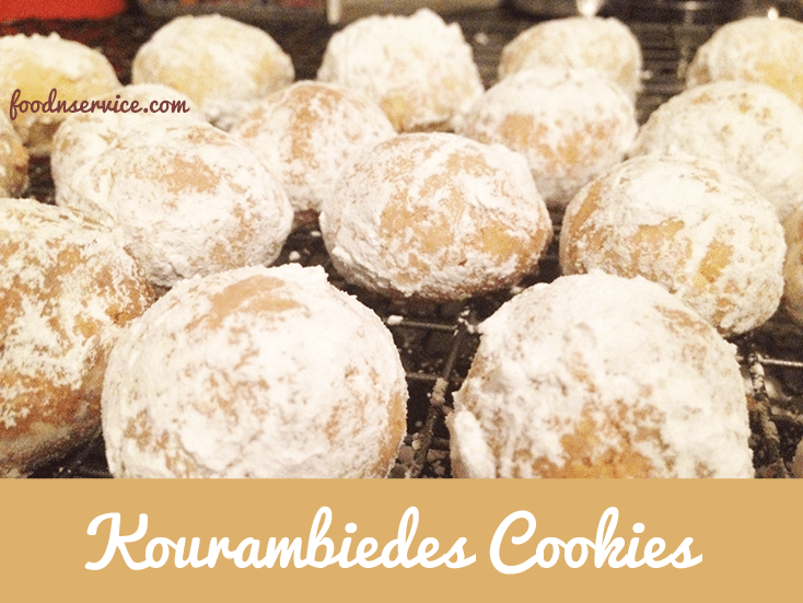Kourambiedes Greek Cookie Recipe. These are traditional Greek #holiday cookies. Amazing. Soft. Delicious!