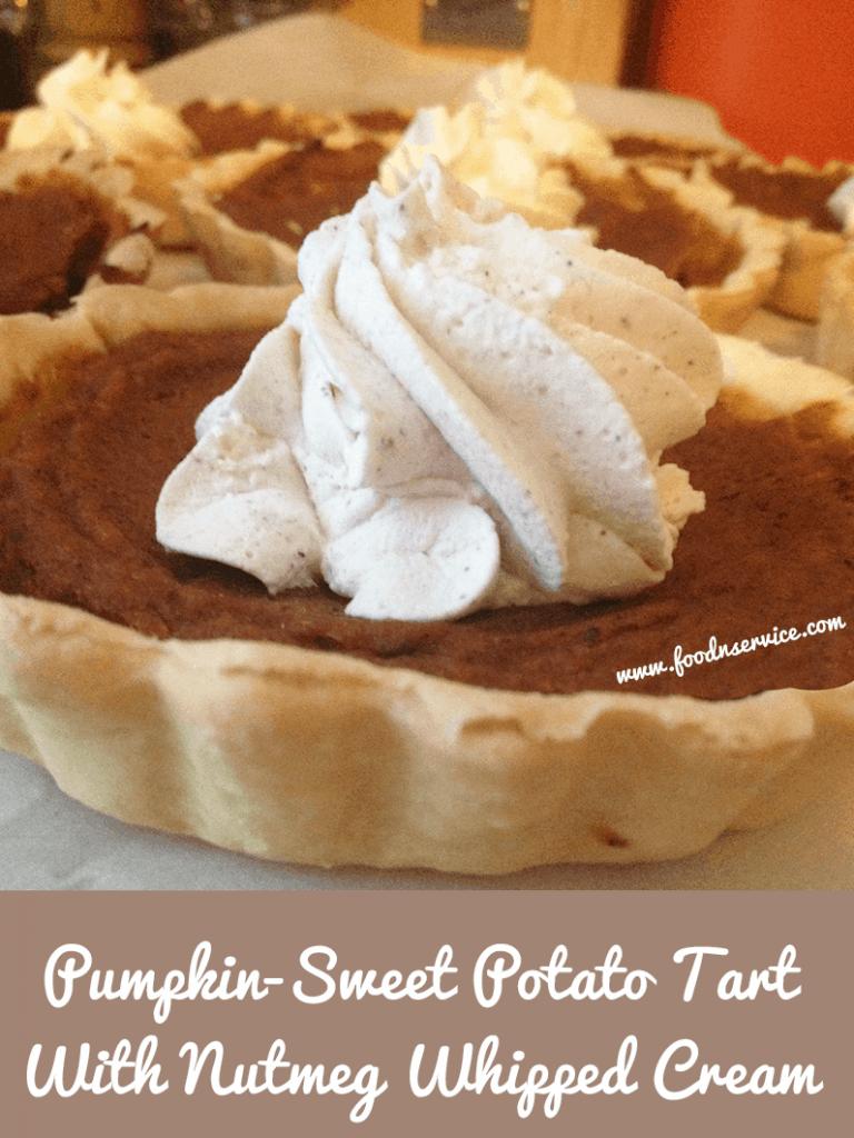 Pumpkin – Sweet Potato Tarts With Nutmeg Whipped Cream Recipe