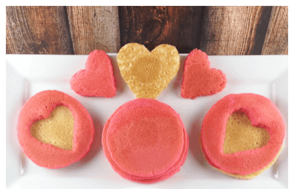 This Valentine's Day Pancake recipe is super cute and super easy to do!