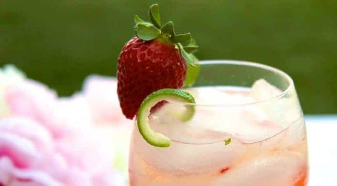 Strawberry Confusa Cocktail recipe made with Pura Vida Tequila. It's a super yummy and delicious cocktail for sure!