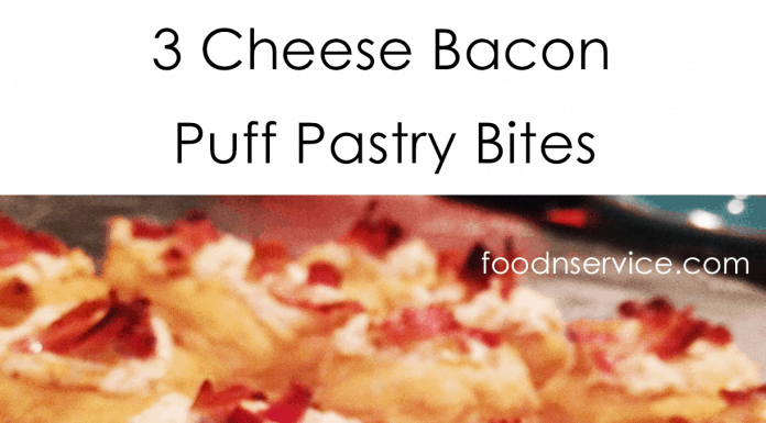 3 cheese bacon puff pastry appetizer recipe is amazing, simple and delicious!