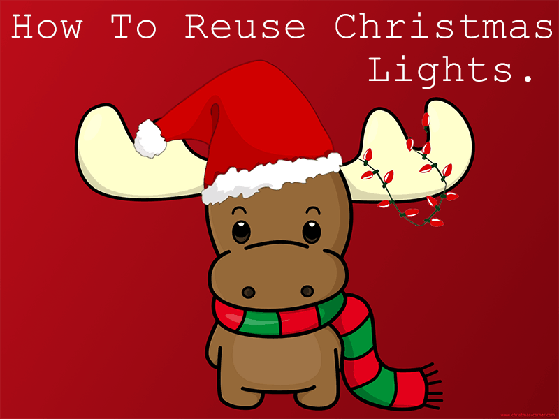 how to reuse christmas lights