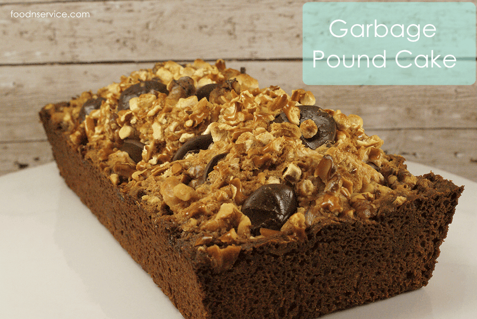 Garbage Pound Cake Recipe has everything in it!