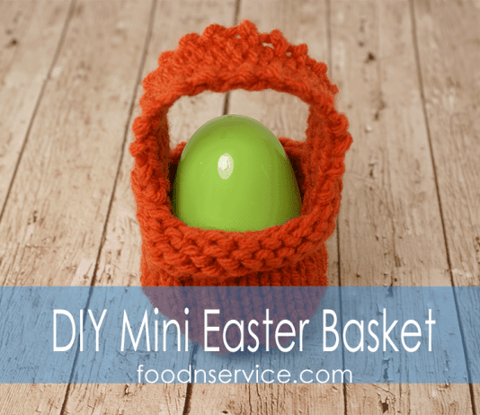 Knitting patterns archives food n service diy knitted mini easter basket negle Images