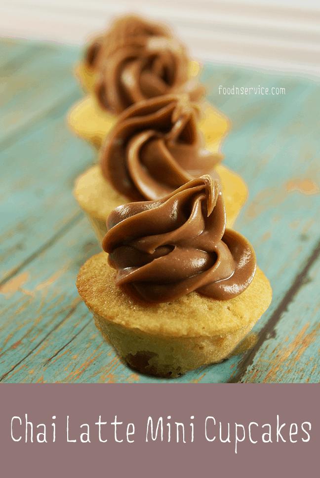 Chai Latte Mini Cupcakes • Food N Service