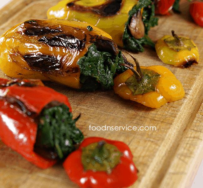 Vegetarian Stuffed Sweet Mini Peppers #cleaneating #healthy #recipes