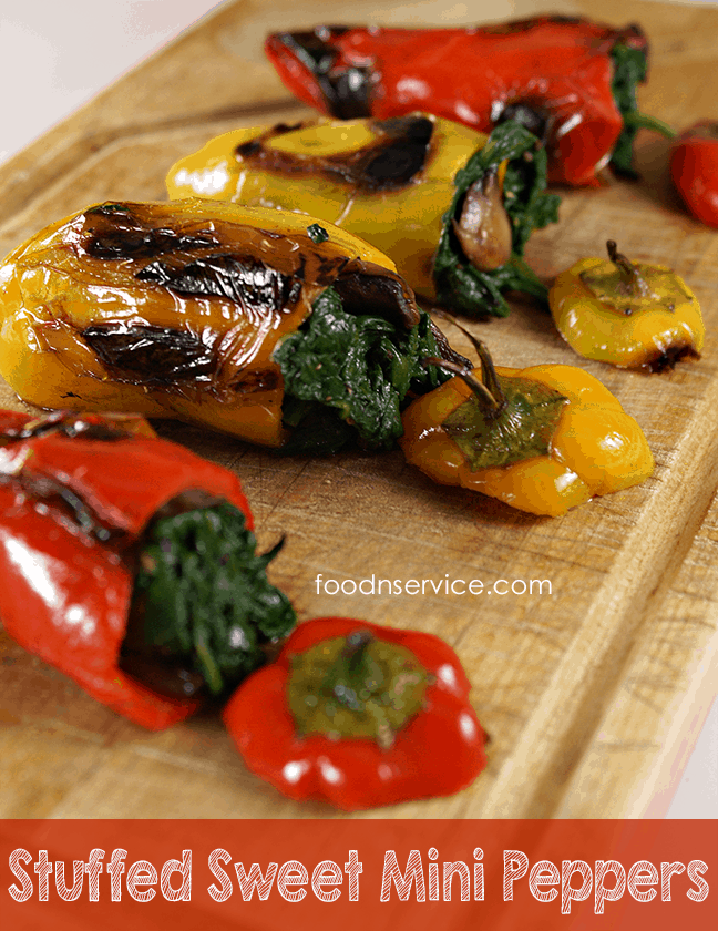 Vegetarian Stuffed Sweet Mini Peppers #cleaneating #healthy #recipes