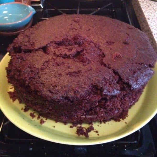 chocolate cake baking fail!