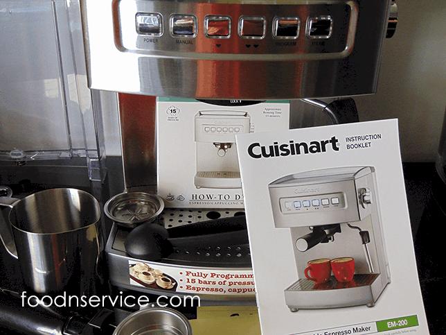 Cuisinart Programmable Espresso Machine Model EM-200 Product Review