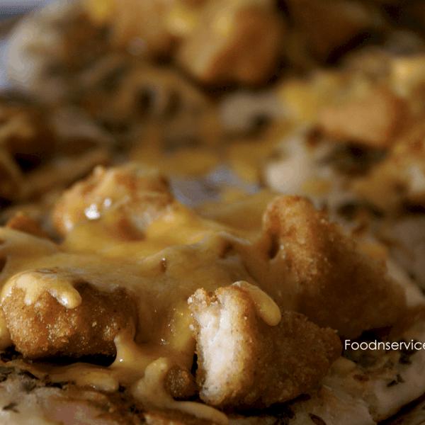 Chicken Flatbread pizza! Super yummy and organic!