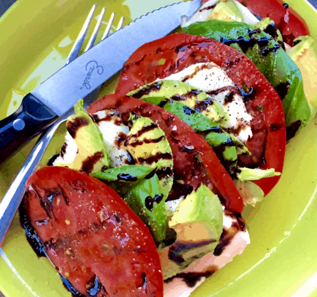 My Avocado Caprese Salad is a great twist on a classic caprese salad recipe!