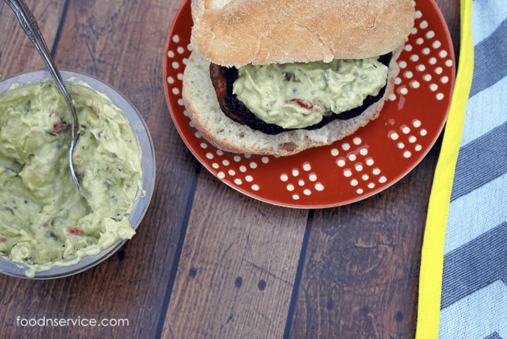 Johnsonville Steakhouse Onion Grillers are just amazing with Avocado salsa or Guacamole! #SausageFamily