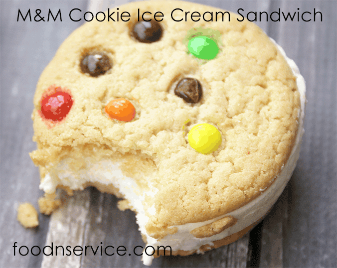 m and m ice cream cookie sandwich