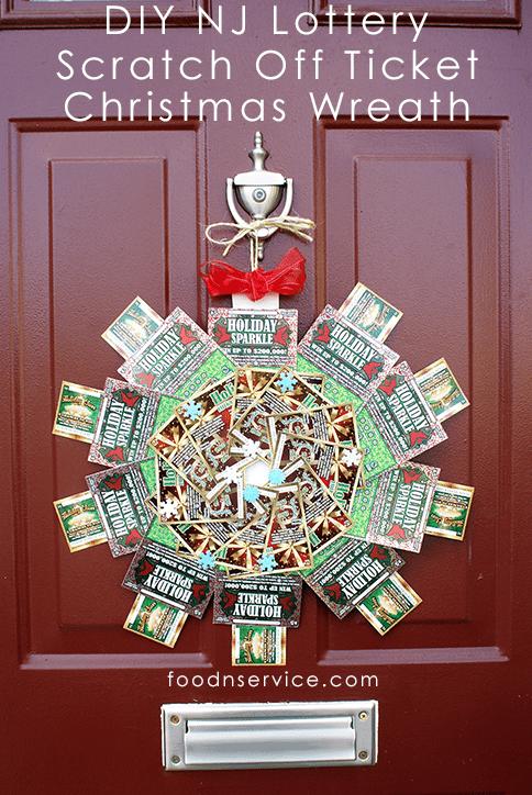 DIY NJ Lottery Scratch Off Ticket Christmas Wreath