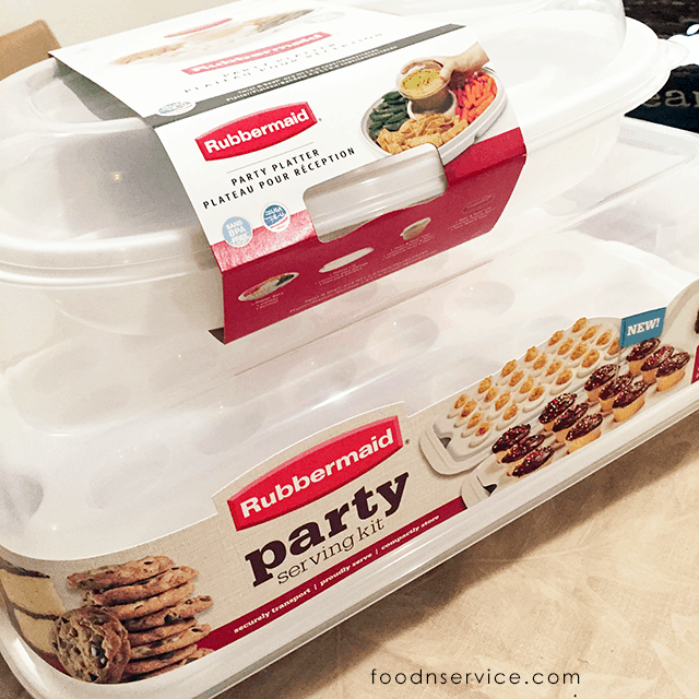 rubbermaid party trays