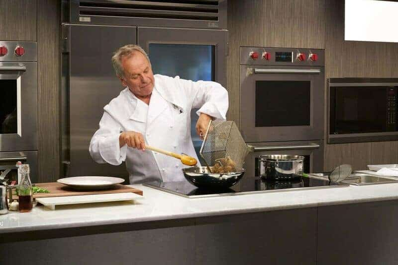 Chef Puck in Wolfgang Puck Cooking School