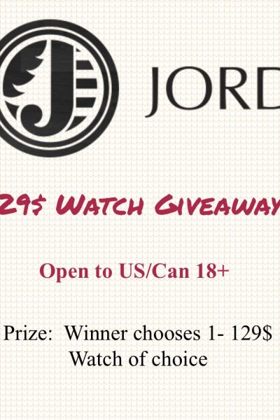 Jord Wood Watch Giveaway!