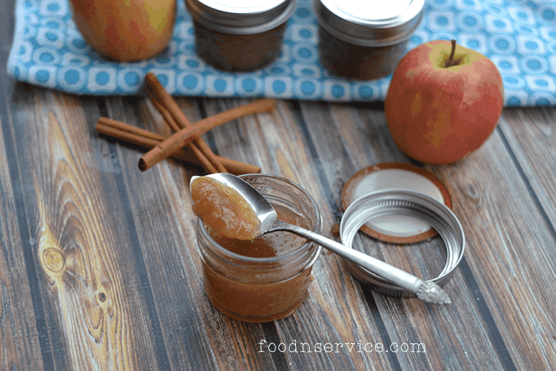 homemade diy apple jame