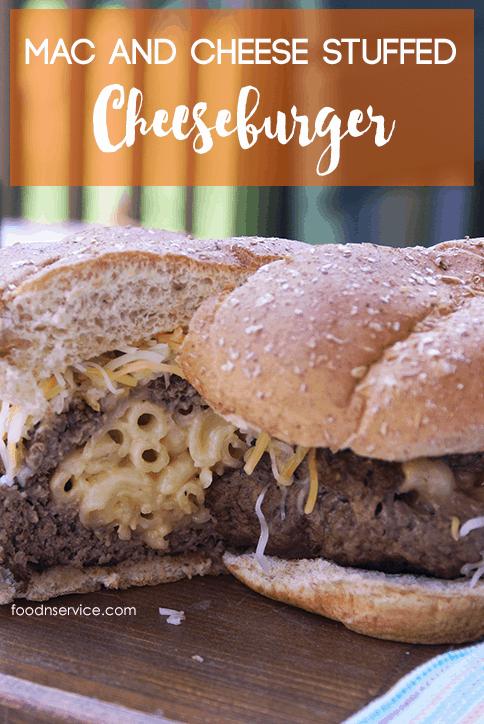Mac And Cheese Stuffed Cheeseburger