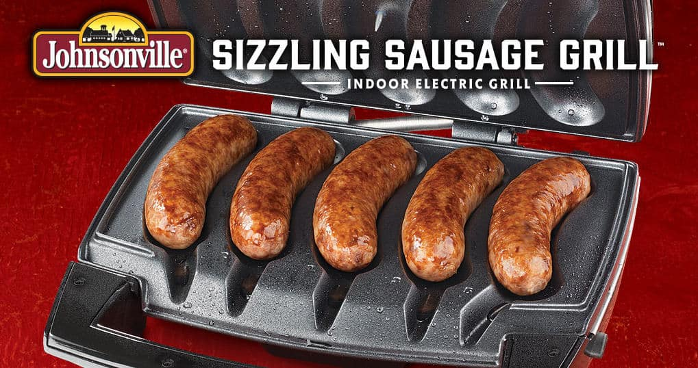 Johnsonville Sizzling Sausage Indoor Grill with Removable Cooking Plates