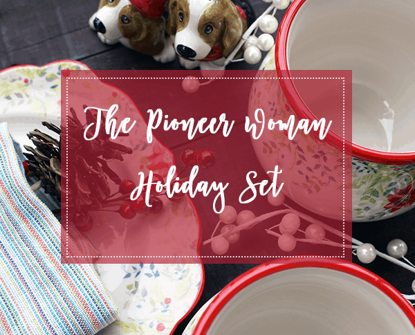 The Pioneer Woman Holiday Dinnerware Set is now available @Walmart! I love how gorgeous they are.