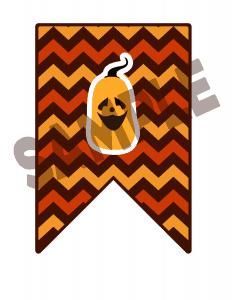 Halloween printable bunting flag