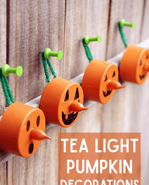 DIY Halloween Tea Light Pumpkin Decorations