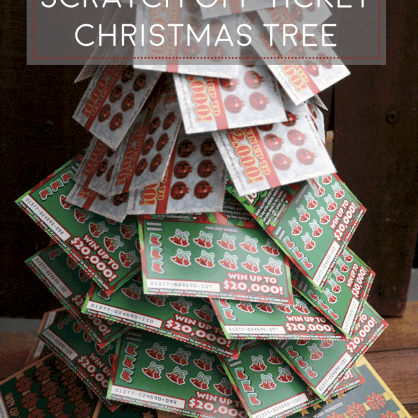 DIY Lottery Christmas Tree. A perfect gift! Give the gift of winning!