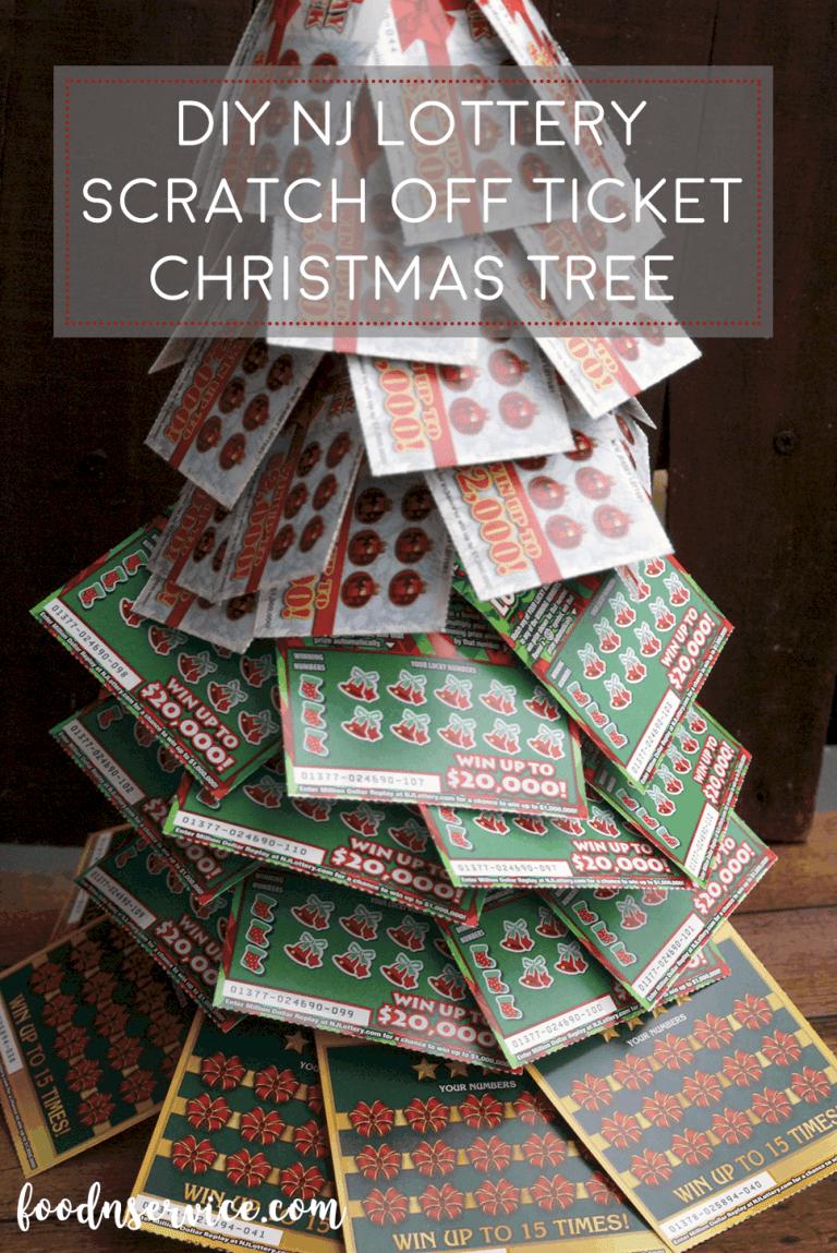 DIY NJ Lottery Ticket Scratch Off Christmas Tree