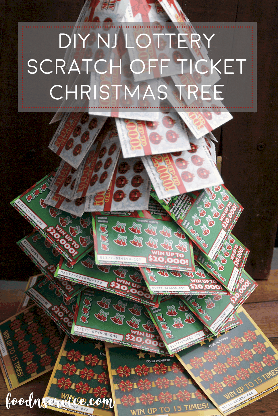 DIY NJ Lottery Ticket Scratch Off Christmas Tree