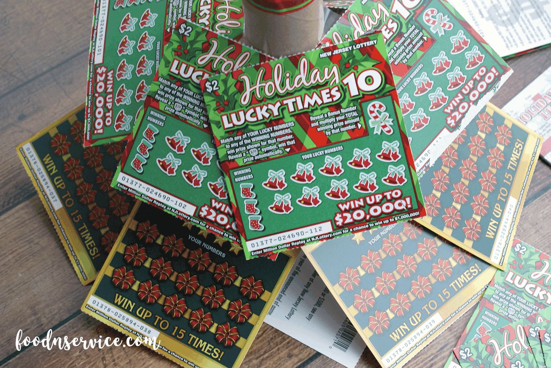 DIY NJ Lottery Ticket Scratch Off Christmas Tree • Food N Service