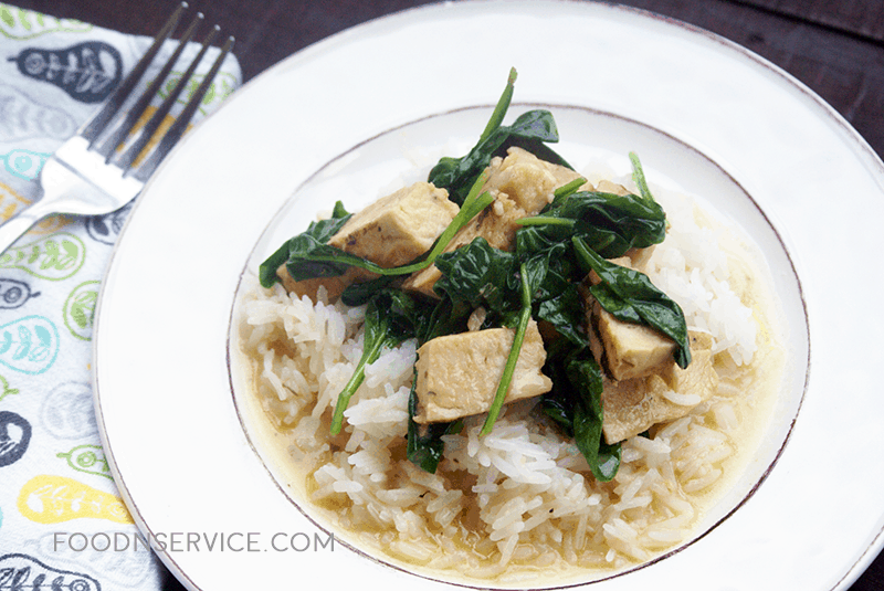 This grilled chicken and rice dish is so easy to make and super delicious! The white wine sage butter sauce is pure perfection on a dish!