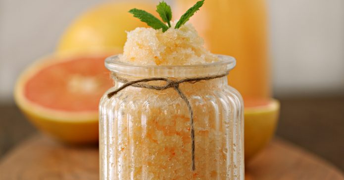 This is DIY Red Grapefruit Body Scrub will leave your skin feeling smooth and amazing.