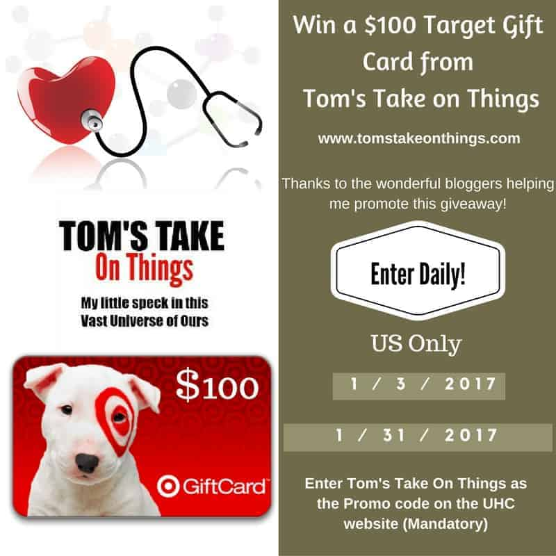 UnitedHealthCare $100 Target Gift Card Giveaway!