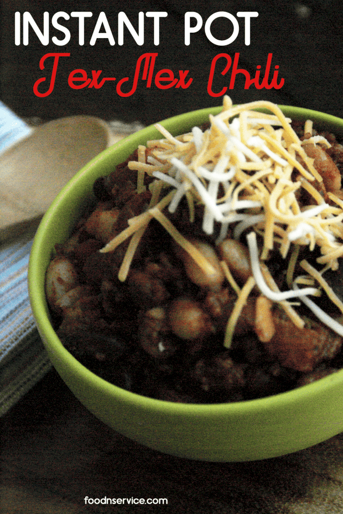 Instant Pot Tex Mex Chili Recipe.