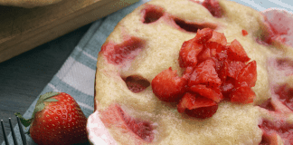 The most delicious instant pot cobbler that you're going to love to make, especially with the fresh strawberries!