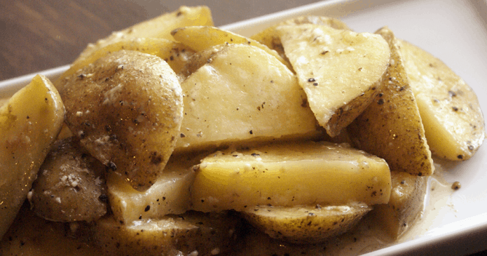 """My instant pot sous vide parmesan potatoes turned out fabulous! I don't have a sous vide machine, so I did a small """"hack"""" and turned out awesome!"""