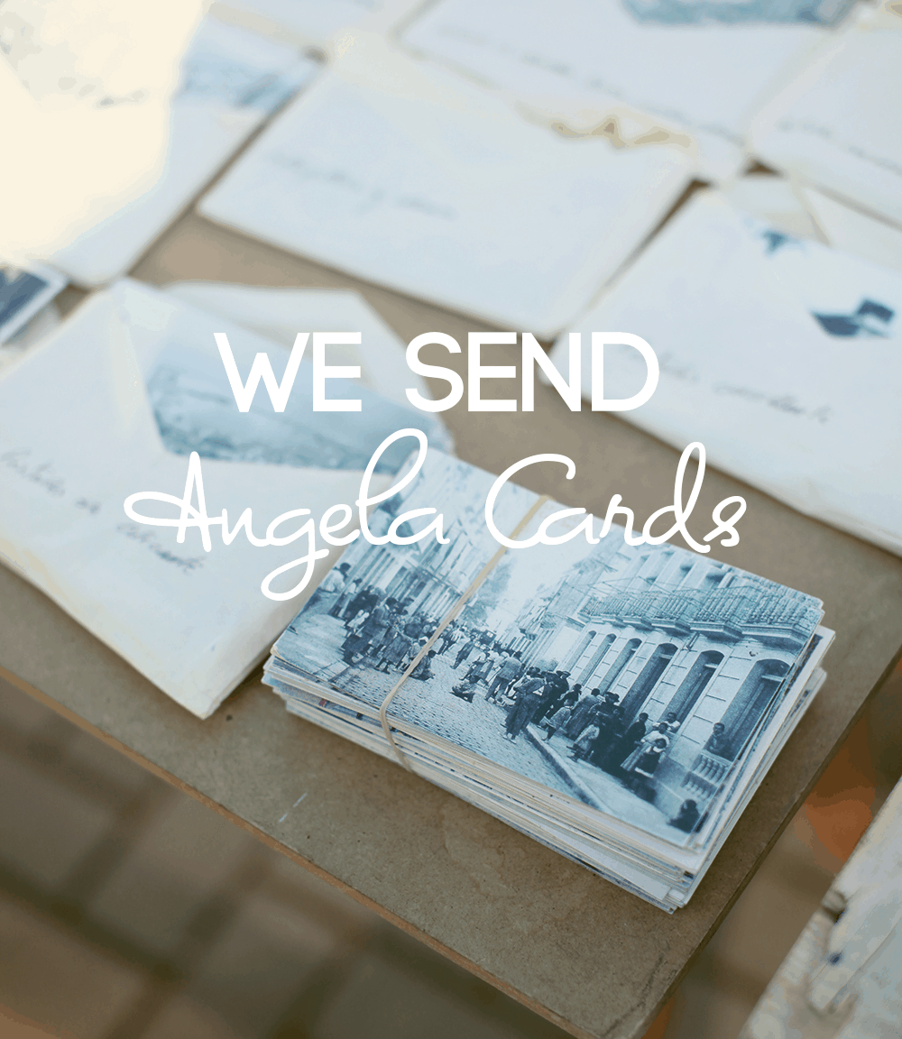 We send Angela cards in the mail for all types of holidays.