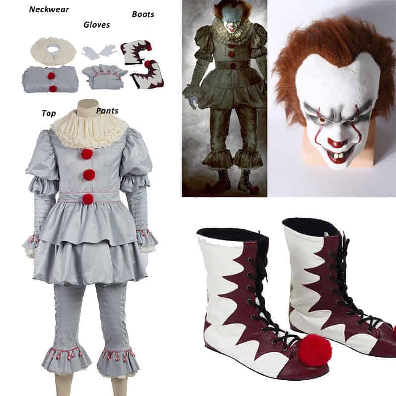 Super Scary Pennywise Costume And DIY Makeup Tutorial Delectable Pennywise Costume Pattern