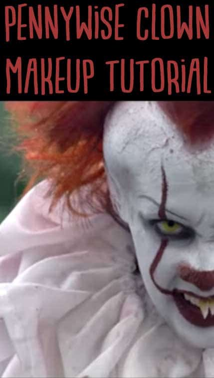 This Pennywise costume makeup tutorial is creepy and easy to do! You're going to love doing this for Halloween!