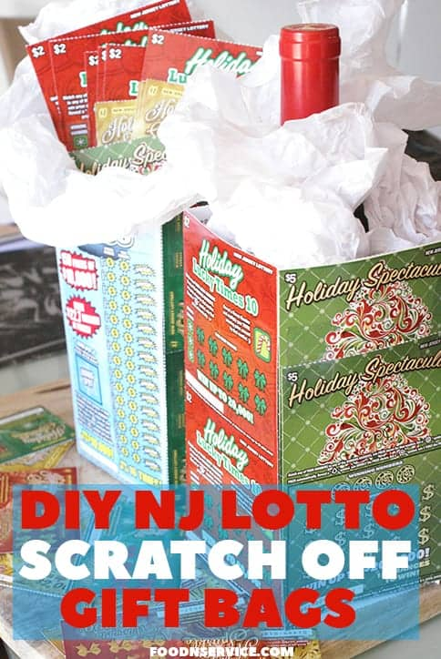 DIY Gift Bag with NJ Lottery Holiday Games • Food N Service