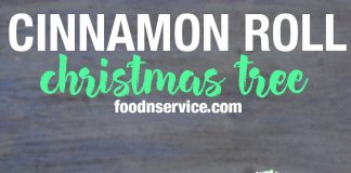 you can make this cinnamon roll christmas tree in no time! It makes a perfect treat for the holiday season, and to any Christmas party you go to! #cinnamonrolls #christmastree #christmas #brunch #diy