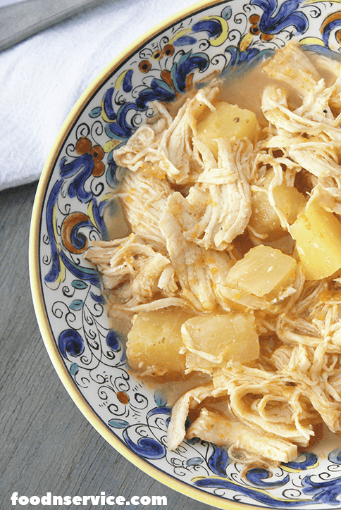 Instant Pot Pineapple chicken recipe in a bowl